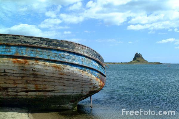 Picture of Derelict Boat, Holy Island - Free Pictures - FreeFoto.com