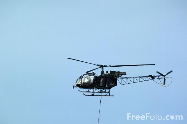 Picture of Helicopter, Seahouses Harbour - Free Pictures - FreeFoto.com
