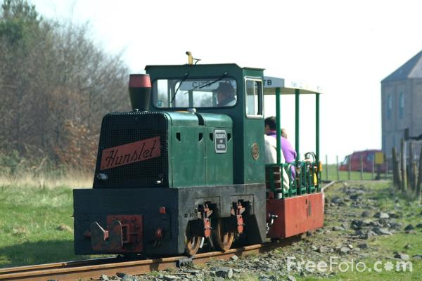 Picture of Ex National Coal Board (NCB) colliery locomotive Elizabeth and Victoria, Woodhorn Colliery, Northumberland - Free Pictures - FreeFoto.com