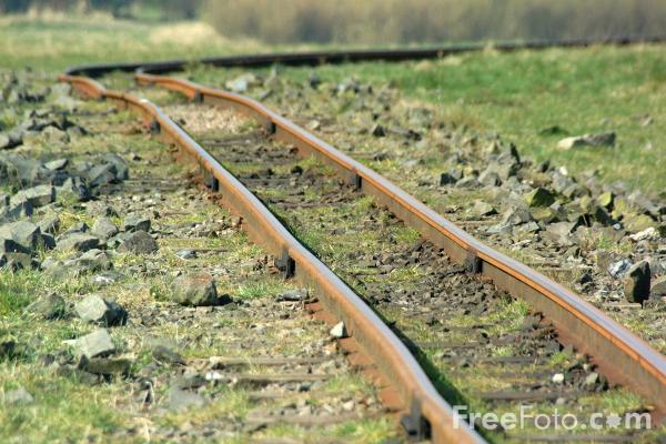 Picture of Railway Track, Woodhorn Colliery, Northumberland - Free Pictures - FreeFoto.com