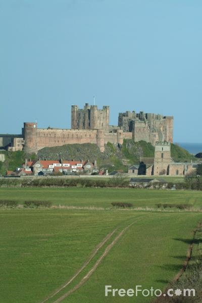 Picture of Bamburgh Castle, Bamburgh, Northumberland - Free Pictures - FreeFoto.com