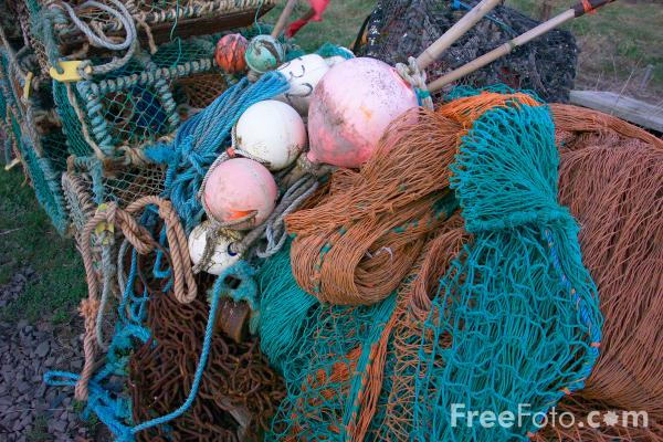 Picture of Lobster Pots - Free Pictures - FreeFoto.com