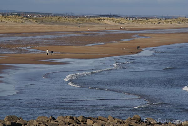 Picture of The sea and beach at Seaton Sluice - Free Pictures - FreeFoto.com