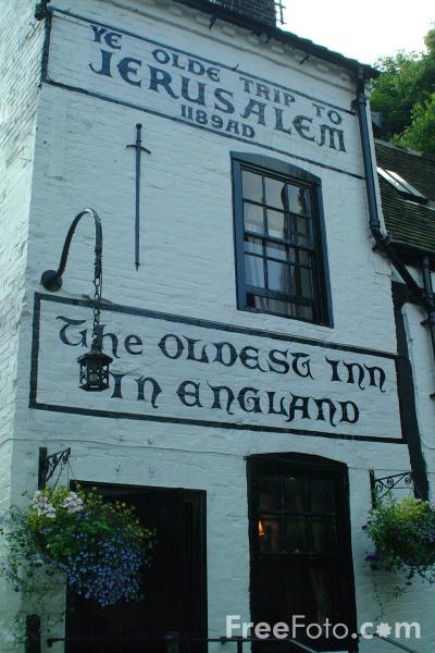 Picture of Ye Olde Trip to Jerusalem - The oldest inn in England - 1189 AD - Free Pictures - FreeFoto.com