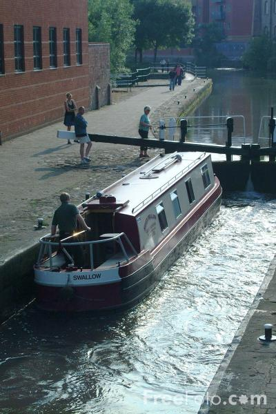 Picture of Lock on the Nottingham Beeston Canal - Free Pictures - FreeFoto.com