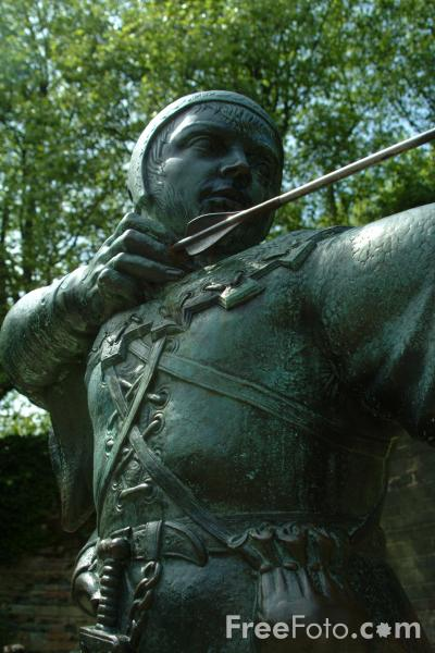 Picture of Robin Hood Statue, Nottingham - Free Pictures - FreeFoto.com