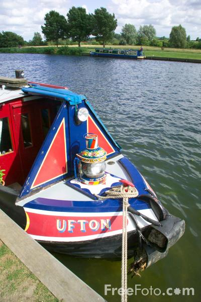 Picture of Canal Boat, River Thames, Abingdon, Oxfordshire, - Free Pictures - FreeFoto.com