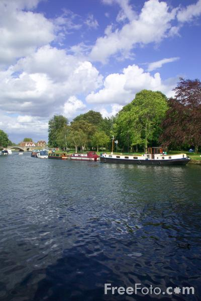 Picture of River Thames, Abingdon, Oxfordshire, - Free Pictures - FreeFoto.com