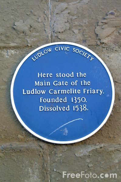 Picture of Ludlow Carmelite Friary - Free Pictures - FreeFoto.com