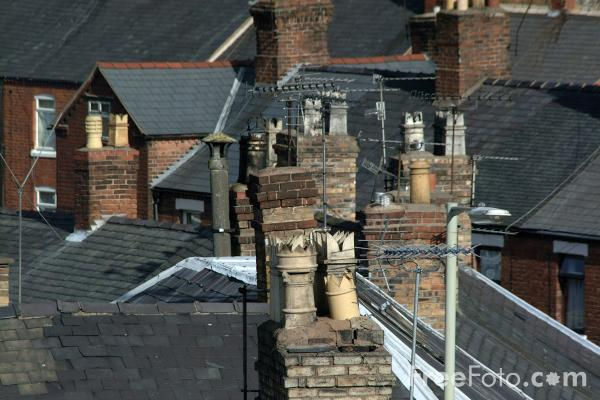 Picture of Roof Tops, Oswestry, Shropshire, England - Free Pictures - FreeFoto.com