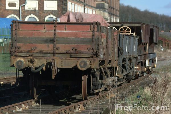 Picture of Wagons, Cambrian Railway Society Museum, Oswestry, Shropshire, England - Free Pictures - FreeFoto.com