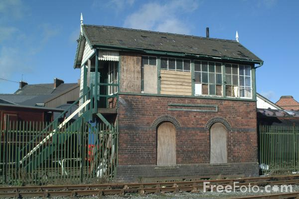Picture of Signalbox, Cambrian Railway Society Museum, Oswestry, Shropshire, England - Free Pictures - FreeFoto.com