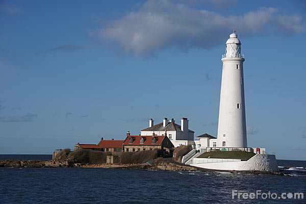 Picture of St Mary's Lighthouse - Free Pictures - FreeFoto.com