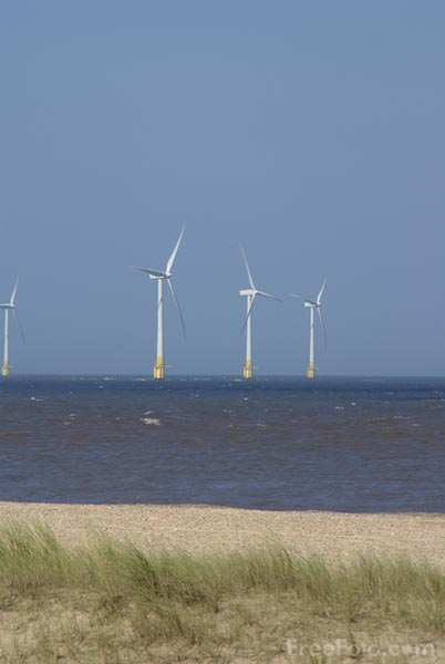 Picture of Offshore wind farm - Free Pictures - FreeFoto.com