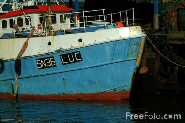Picture of Fishing Boats, North Shields Fish Quay - Free Pictures - FreeFoto.com