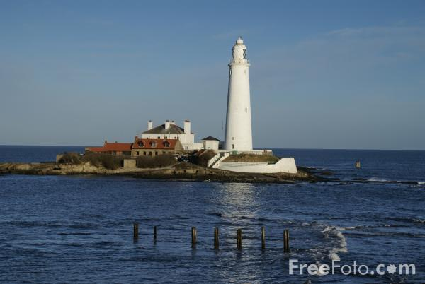 St Mary's Lighthouse, Whitley Bay pictures, free use image, 1042 ...