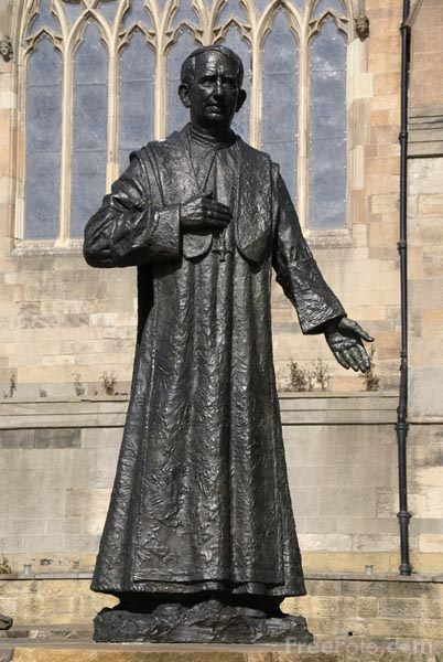 Picture of Cardinal George Basil Hume Memorial - Free Pictures - FreeFoto.com