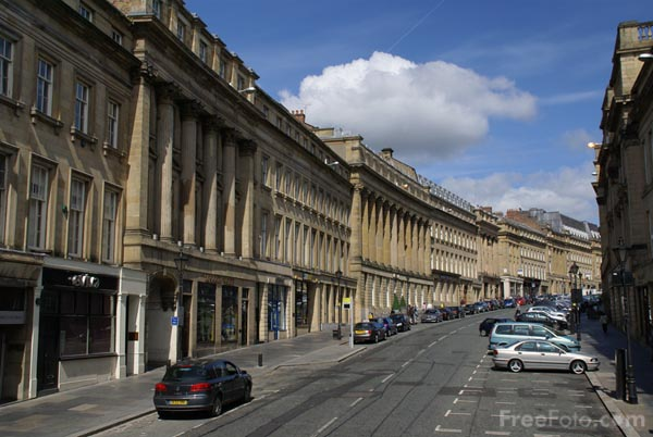 Picture of Grey Street, Newcastle upon Tyne - Free Pictures - FreeFoto.com