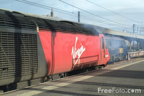 Picture of Virgin HST, Central Station, Newcastle upon Tyne - Free Pictures - FreeFoto.com