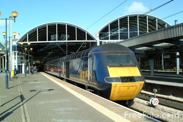 Picture of GNER HST, Central Station, Newcastle upon Tyne - Free Pictures - FreeFoto.com