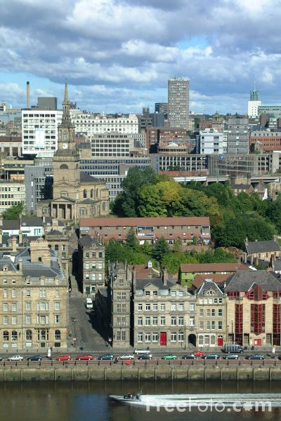 Picture of Newcastle Upon Tyne Skyline - Free Pictures - FreeFoto.com
