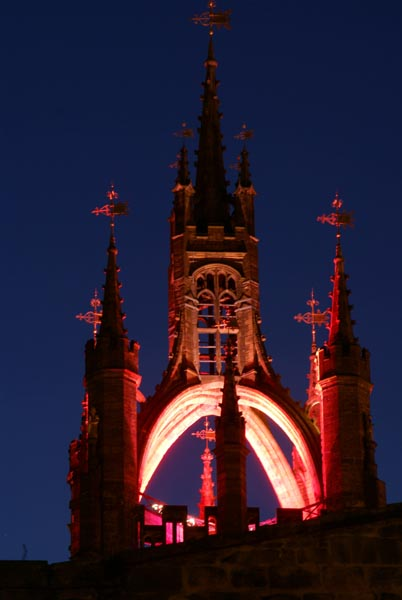 Picture of St Nicholas Cathedral Newcastle upon Tyne during Glow - a festival of light. - Free Pictures - FreeFoto.com