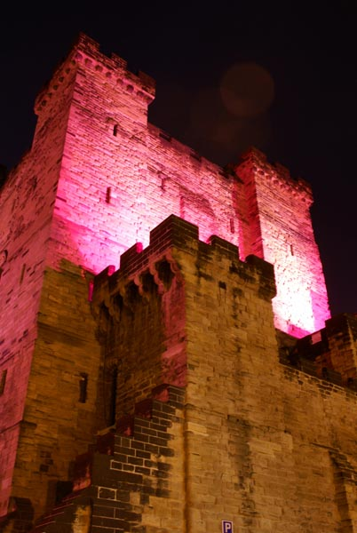 Picture of Castle Keep during Glow - a festival of light. - Free Pictures - FreeFoto.com