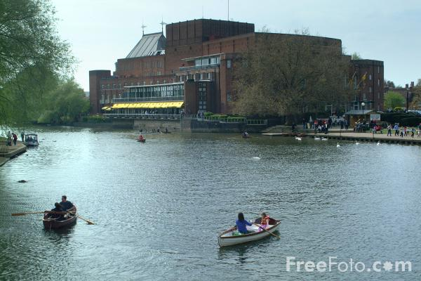 Picture of Shakespeare Memorial Theatre, Stratford upon Avon - Free Pictures - FreeFoto.com