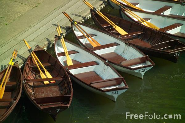 Picture of Rowing Boats, River Avon, Warwick - Free Pictures - FreeFoto.com