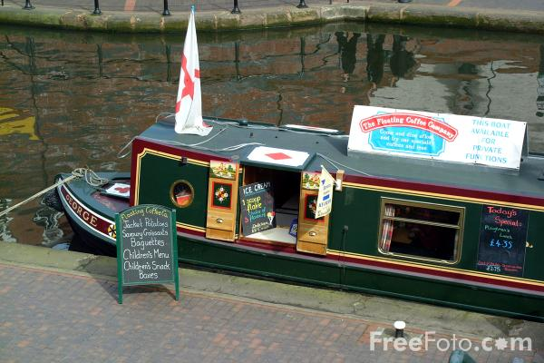 Picture of Canal Boat, The  Birmingham Canal Navigations, Broad Street, Birmingham - Free Pictures - FreeFoto.com