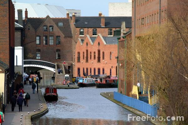 Picture of Gas Street Basin, The Birmingham Canal Navigations - Free Pictures - FreeFoto.com