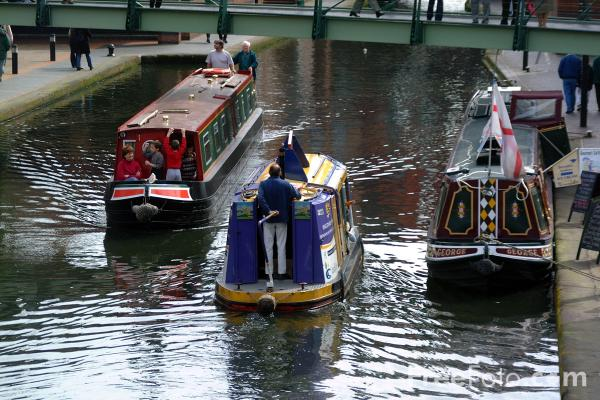 Picture of Canal Boats, The  Birmingham Canal Navigations, Broad Street, Birmingham - Free Pictures - FreeFoto.com