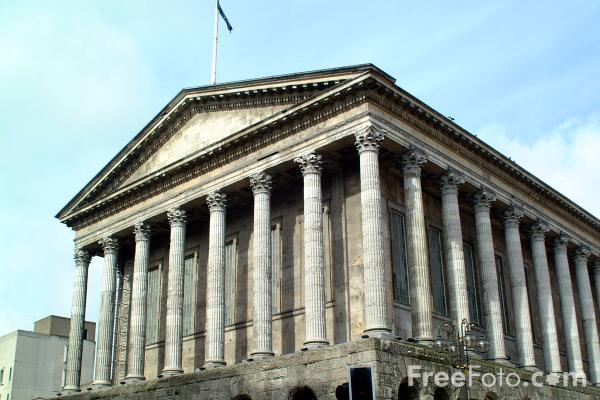Picture of The Grade I listed Town Hall, Victoria Square, Birmingham - Free Pictures - FreeFoto.com