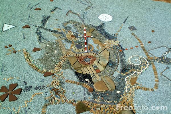 Picture of Mosaic, The Priory Garden, Coventry - Free Pictures - FreeFoto.com