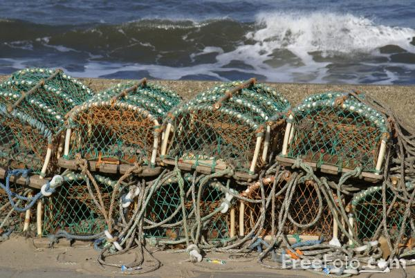 Picture of Lobster Pots, Redcar Sea Front - Free Pictures - FreeFoto.com