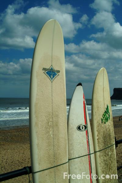 Picture of Surfboards, Saltburn By The Sea - Free Pictures - FreeFoto.com