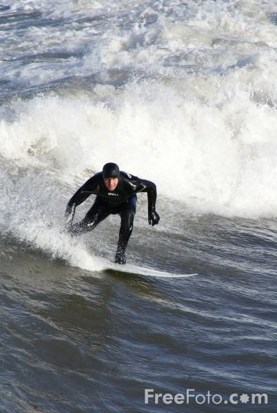 Picture of Surfing, Saltburn By The Sea - Free Pictures - FreeFoto.com
