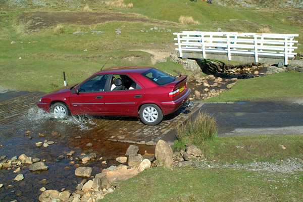 Picture of Ford across the stream near Low Row - Free Pictures - FreeFoto.com