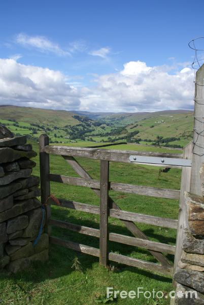 Picture of Gate, Swaledale, North Yorkshire - Free Pictures - FreeFoto.com