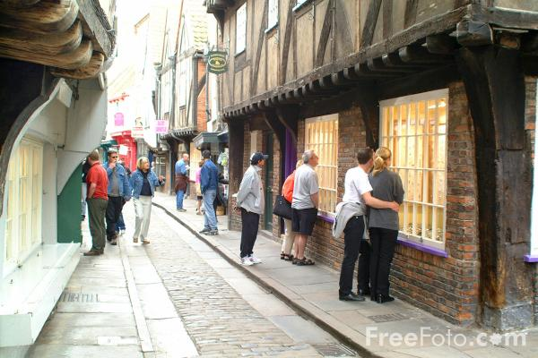 Picture of The Shambles - one of the best preserved medieval streets in Europe - Free Pictures - FreeFoto.com
