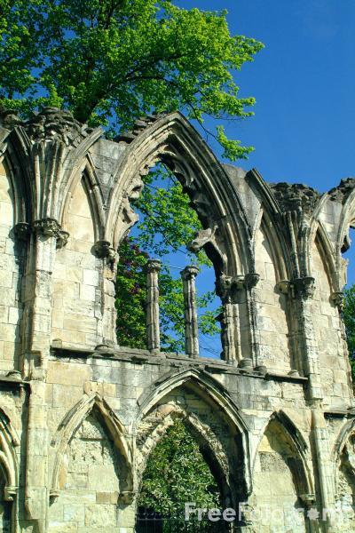 Picture of St Marys Abbey, The City of York - Free Pictures - FreeFoto.com