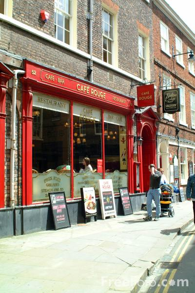 Picture of Cafe Rouge, Low Petergate, City of York - Free Pictures - FreeFoto.com