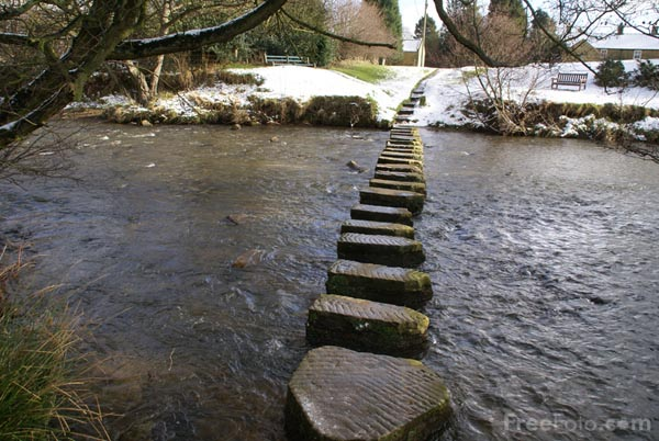 Picture of Stepping Stones, Lealholm, Esk Valley - Free Pictures - FreeFoto.com