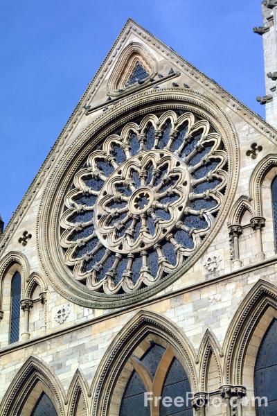 Picture of Rose Window, York Minster - Free Pictures - FreeFoto.com