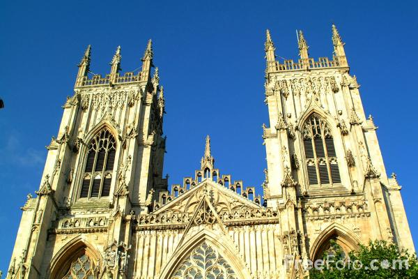 Picture of York Minster, York - One of the greatest cathedral churches in Europe. - Free Pictures - FreeFoto.com