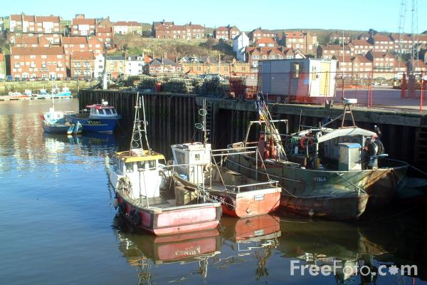 Picture of Fishing Boats, Whitby Harbour - Free Pictures - FreeFoto.com