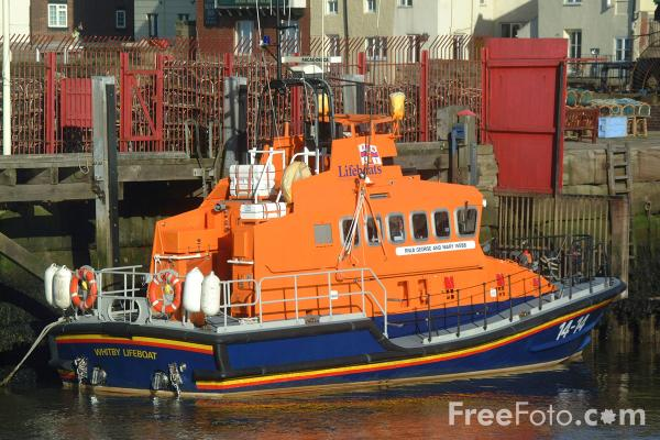 Picture of RNLI Lifeboat, Whitby Harbour - Free Pictures - FreeFoto.com