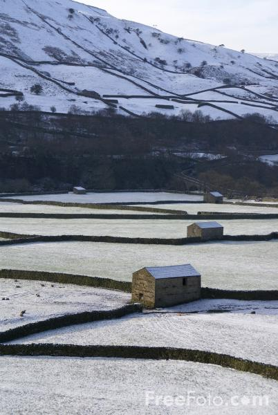 Picture of Winter, Gunnerside, North Yorkshire - Free Pictures - FreeFoto.com