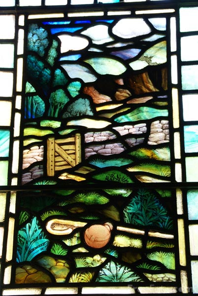 Picture of Stained Glass Window, St. Mary's Church, Kettlewell, Upper Wharfedale - Free Pictures - FreeFoto.com