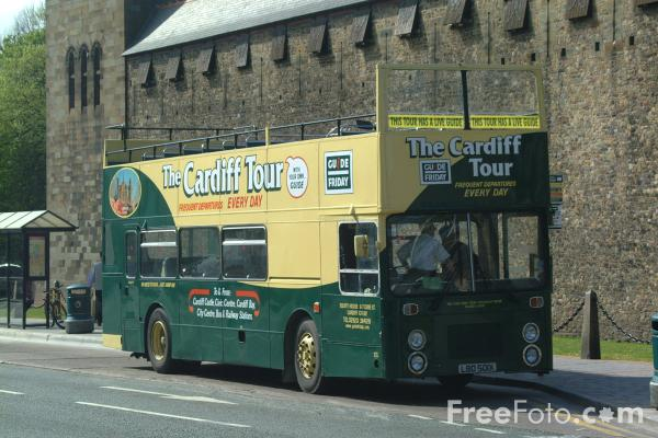 Picture of Guide Friday Tour Bus, Cardiff - Free Pictures - FreeFoto.com